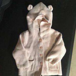 Baby Gap light pink sweater cardigan